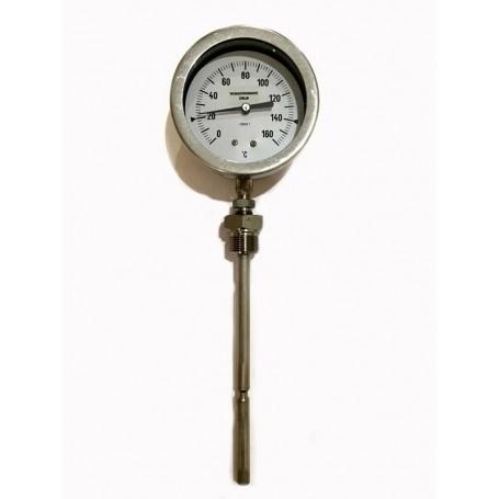 Termometro acciaio Inox attacco radiale